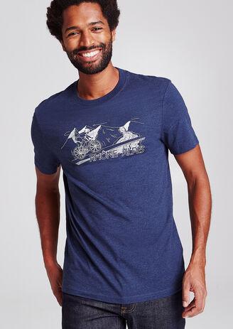 Tee shirt col rond motif région Rhône-Alpes