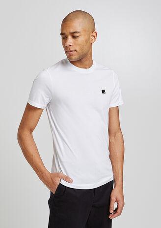 T shirt col rond détail poitrine