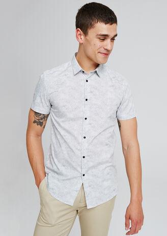 Hemd met print, korte mouw