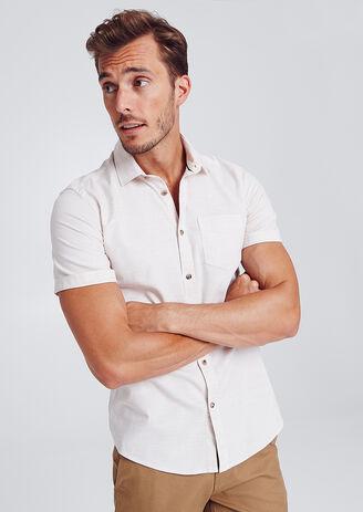 Regular hemd met korte mouw