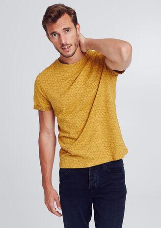 T-shirt met all-over print op fantasiestof