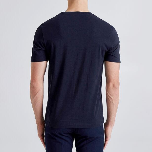 T-shirt met vlaggenprint en opdruk 'Nautic'