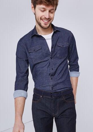 Slim jeanshemd Urban Flex