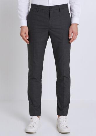 Pantalone da abito a quadri extra slim