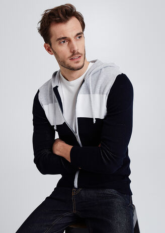 Gilet zippé colorblock