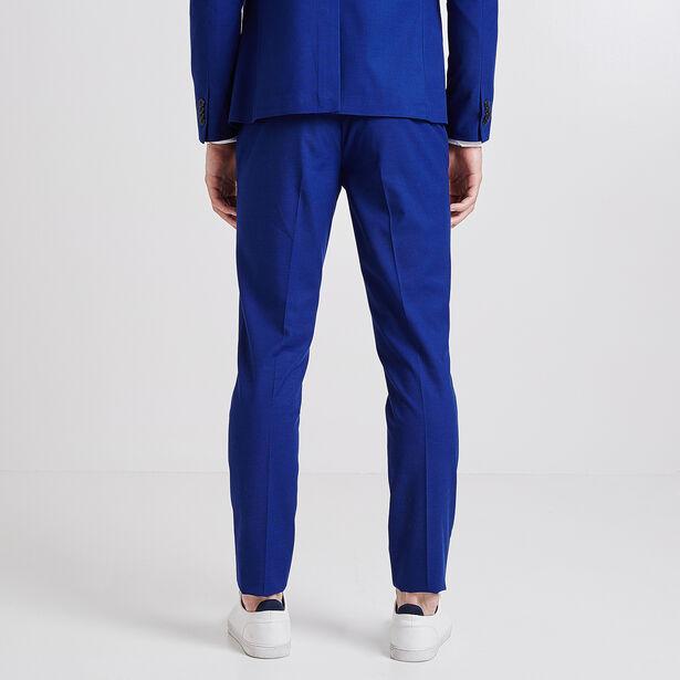 Kostuumbroek, extraslim snit, hardblauw