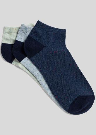Set van 3 paar lage sokken