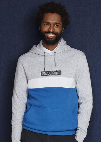 Hoodie sweater met opdruk Polychrome