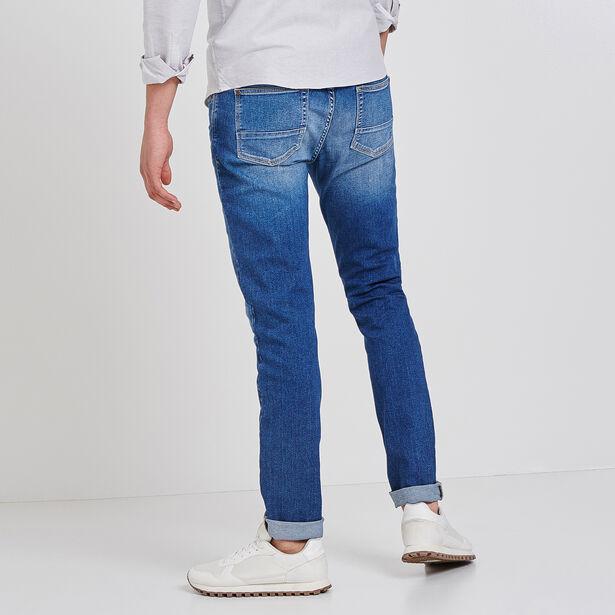 Slim jeans, lichte stof, stonewashed