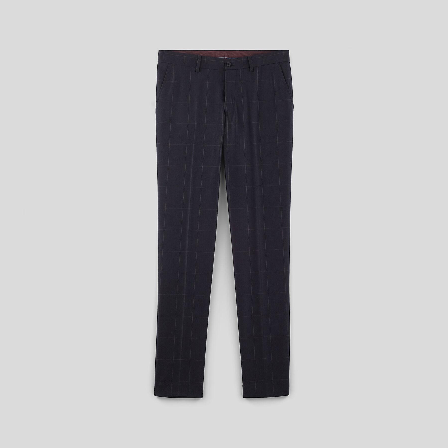 pantalon de costume carreaux extra slim bleu marine. Black Bedroom Furniture Sets. Home Design Ideas