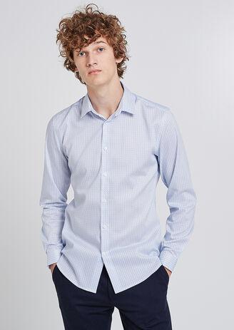 Regular hemd met print, onnodig te strijken