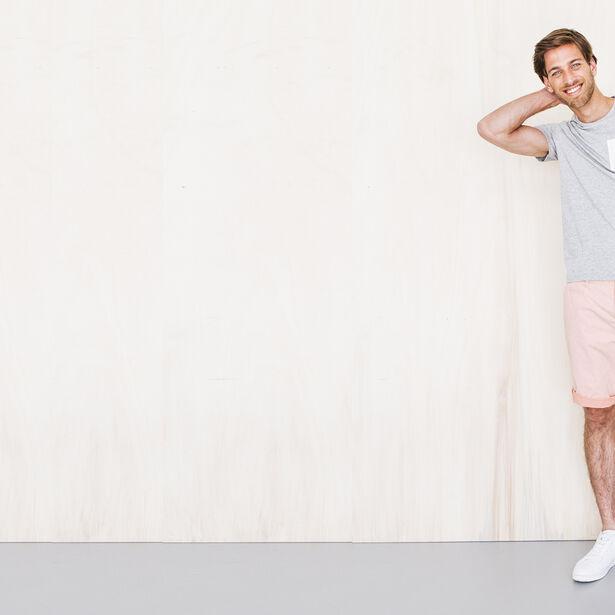 T-shirt col rond avec poche Fabrication Française