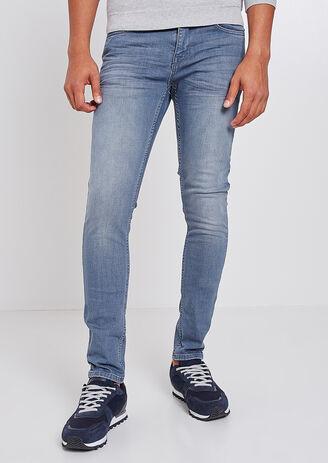 Jeans Skinny blu-grigio