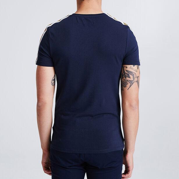 Tee shirt avec bandes manches