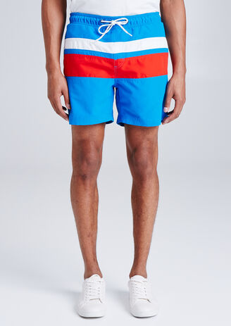 Maillot de bain homme color block