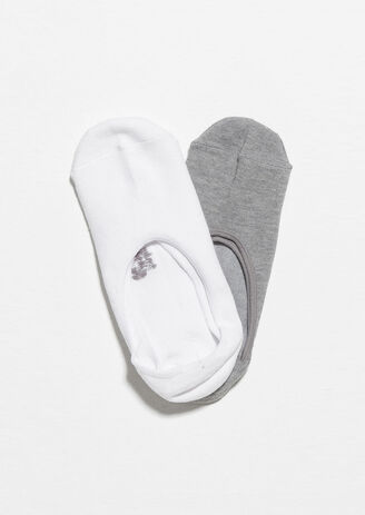 Lot de 2 paires de chaussettes invisibles Blanc Homme