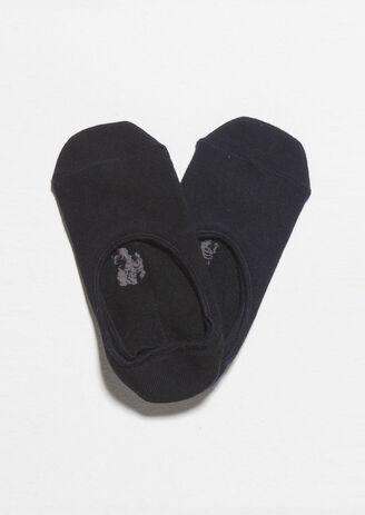 Lot de 2 paires de chaussettes invisibles Noir Homme