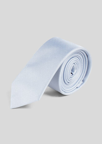 Cravate 100% soie Bleu Homme