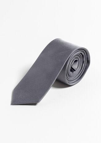 Cravate 100% soie Gris Homme