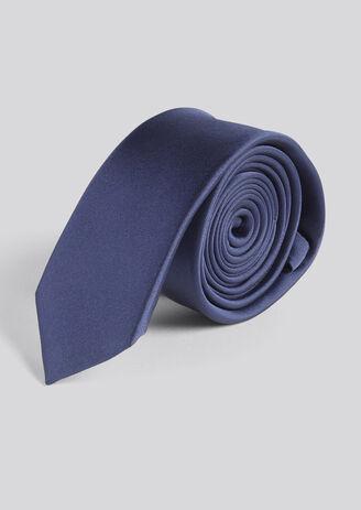 Cravate satin Unie Bleu Homme