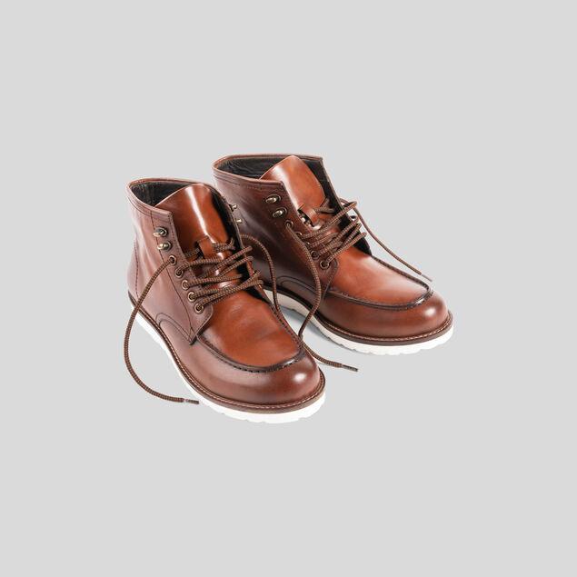 Boots montantes à lacets