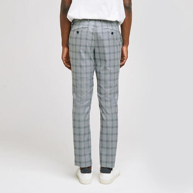 pantalon de costume slim motif carreau fenêtre