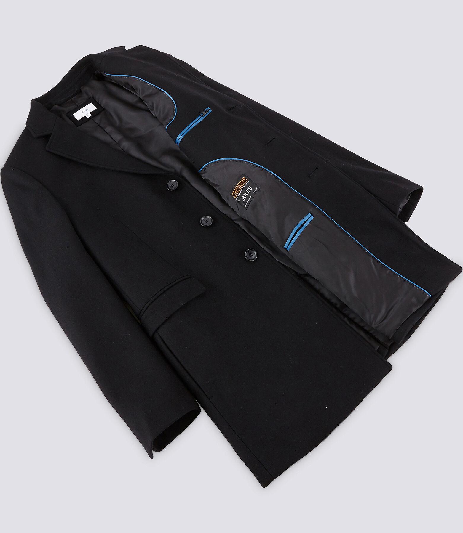 Manteau long en laine italienne majoritaire - Noir