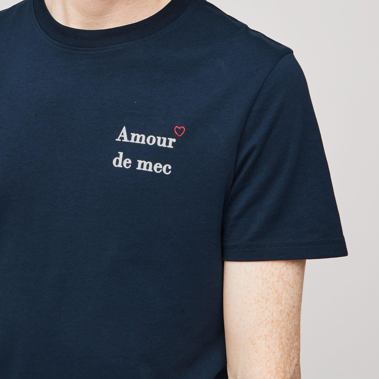Tee-shirt imprimé poitrine amour de mec
