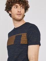 Tee shirt à col rond motif graphique avec poche