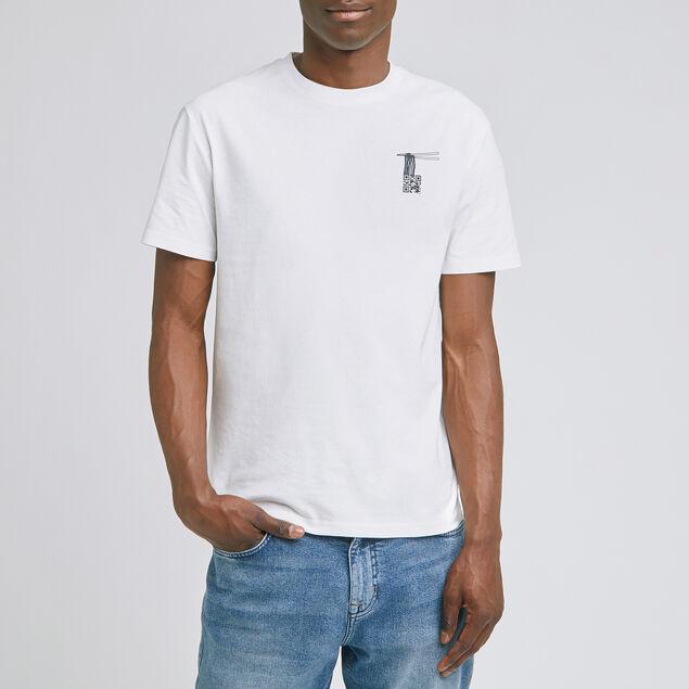 Tee-shirt imprimé coton issu de l'agri bio