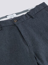 Pantalon chino slim chevrons gris