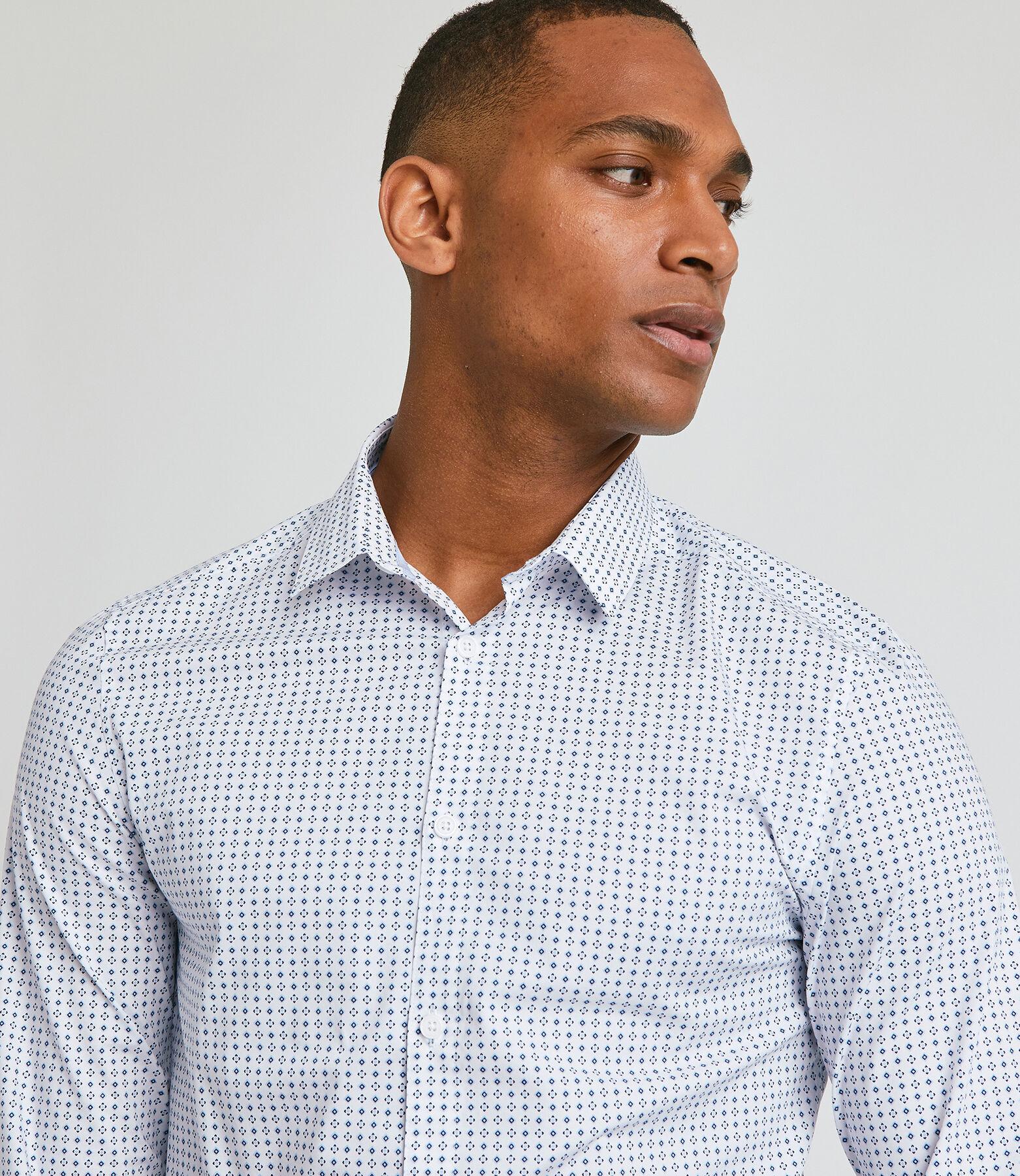 Chemise slim motif cravate