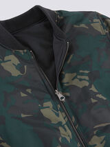 Blouson col montant réversible camouflage