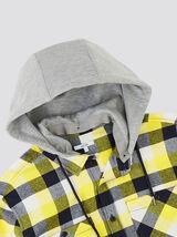 Surchemise regular à carreaux flanelle avec capuch