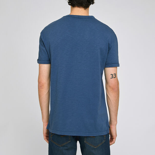 Tee-shirt effet lavé coton issu de l'agri bio