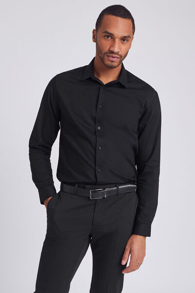 Chemise slim repassage facile Stay black/white en