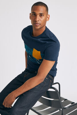 T-shirt découpe imprimé fleursoiseaux de paradis