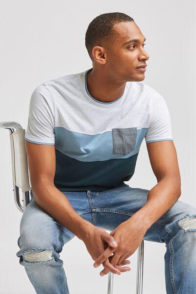 Tee-shirt colorblock  coton issu de l'agri bio et