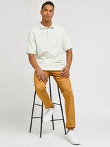 Polo manches courtes texturé oversize