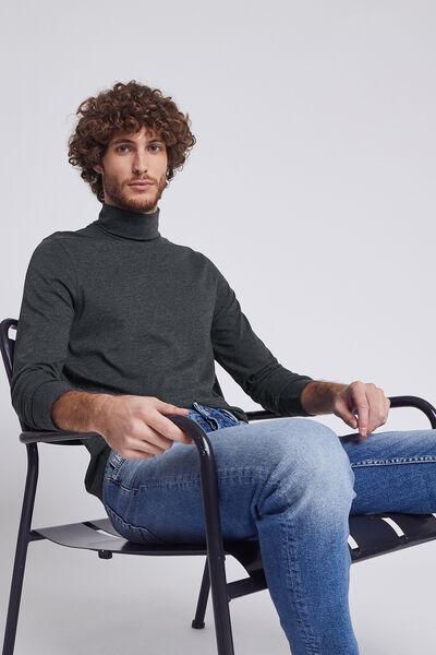 Tee shirt col roulé uni