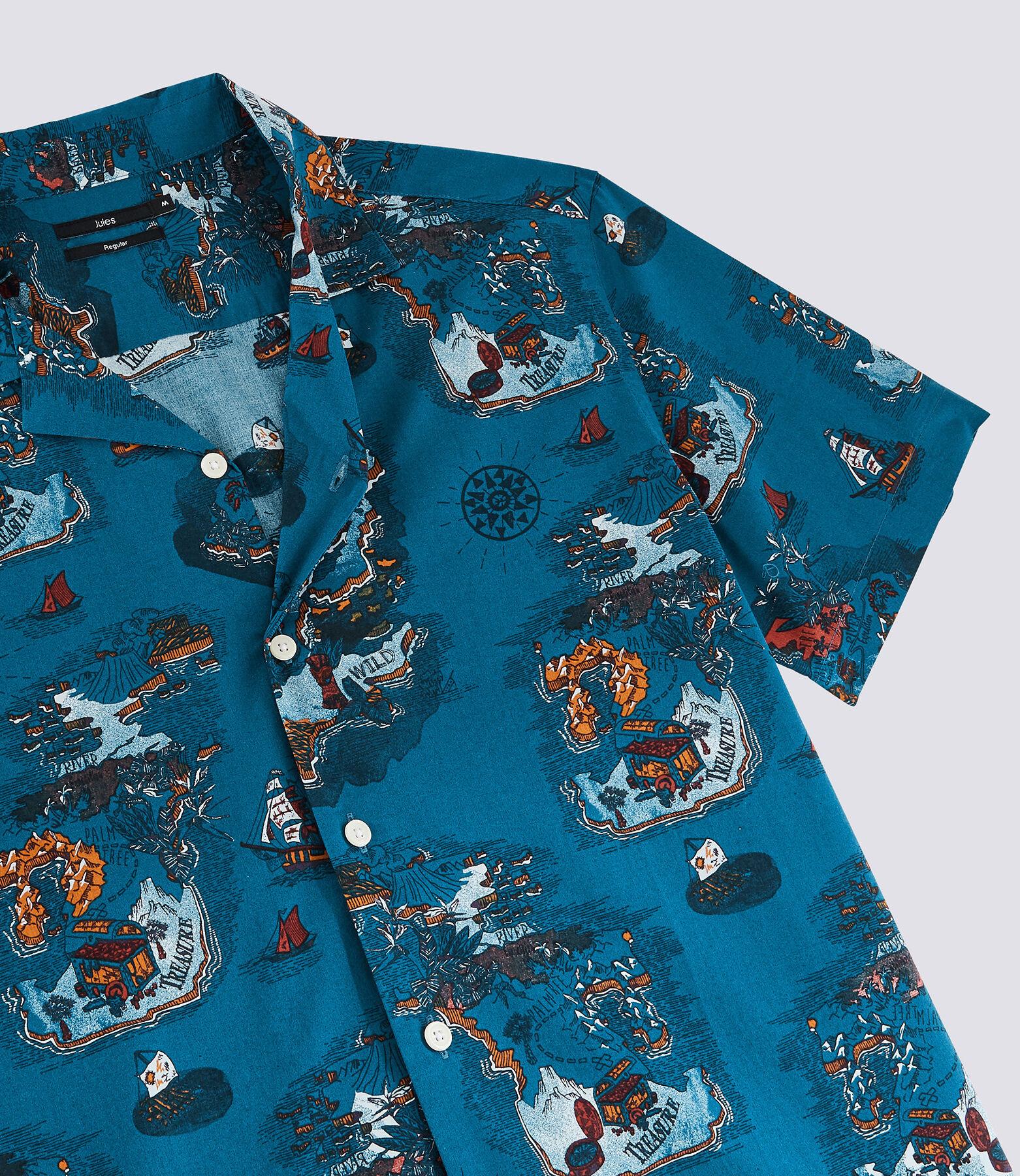 Chemise manches courtes imprimé carte au trésor