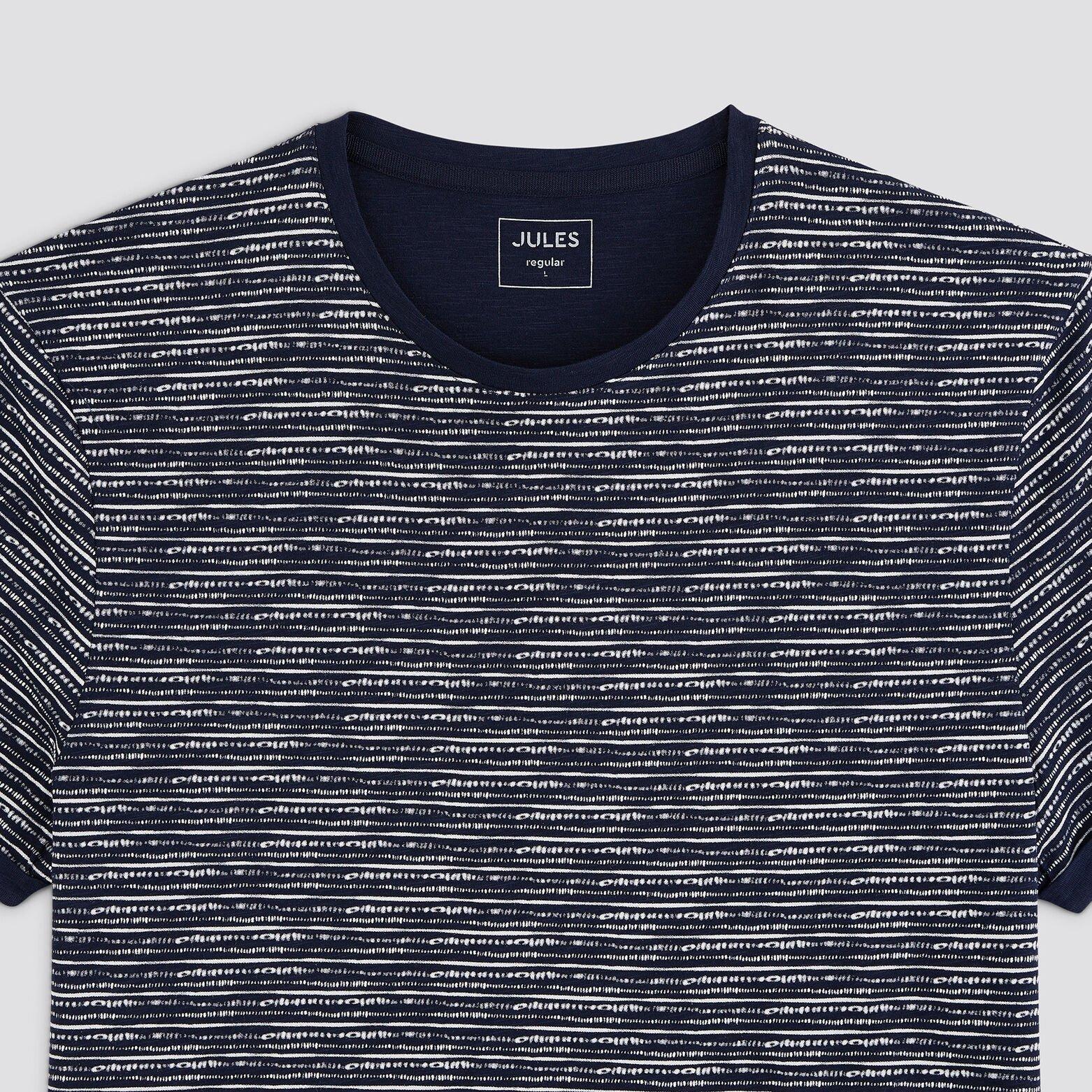 Tee-shirt effet rayé coton issu de l'agri bio