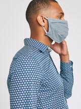 Chemise manches longues imprimée + masque assorti