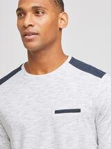 Tee-shirt  manches longues patch épaules contenant