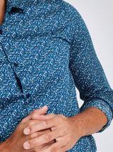 Chemise stretch motif floral ajustée