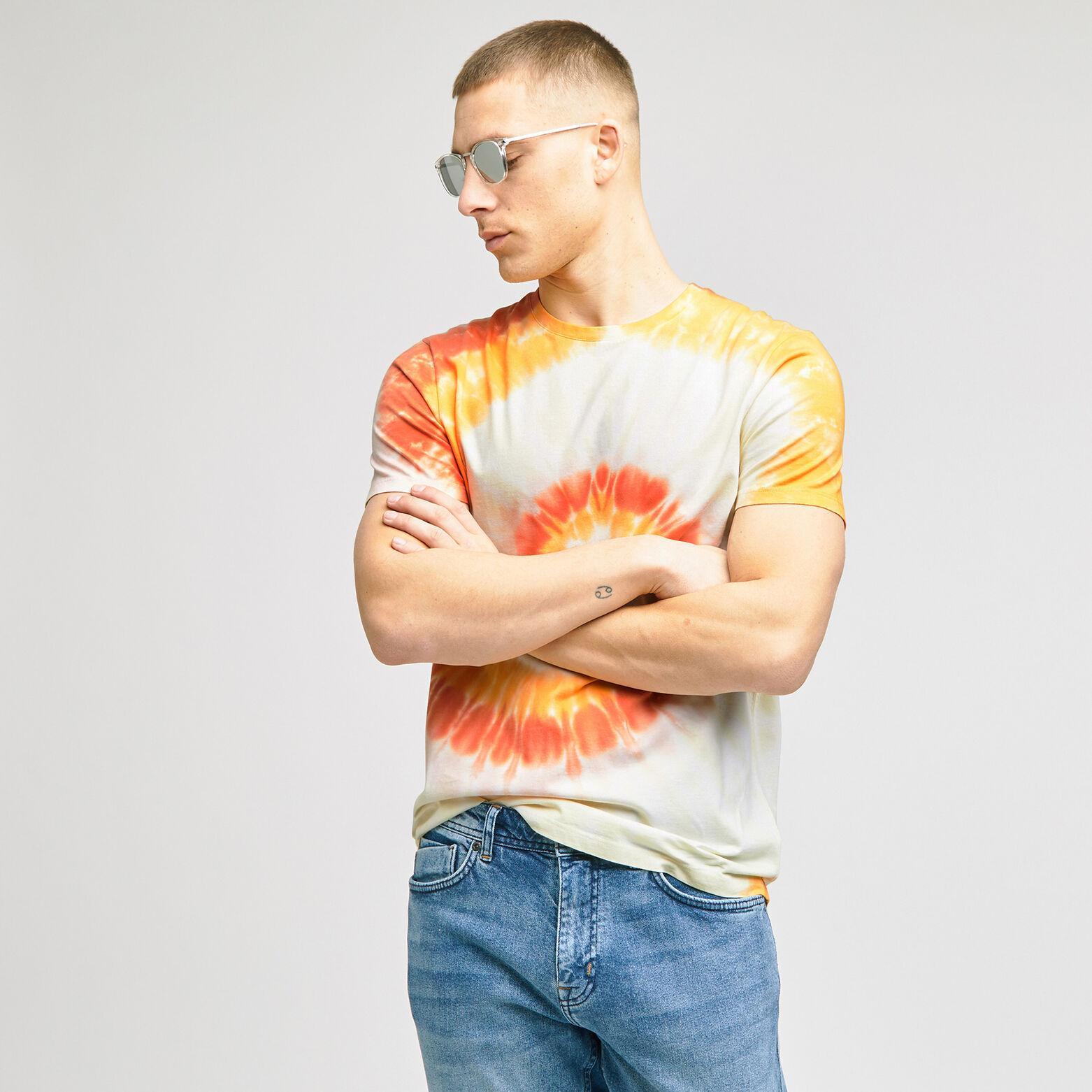 Tee-shirt tie and dye coton issu de l'agri bio