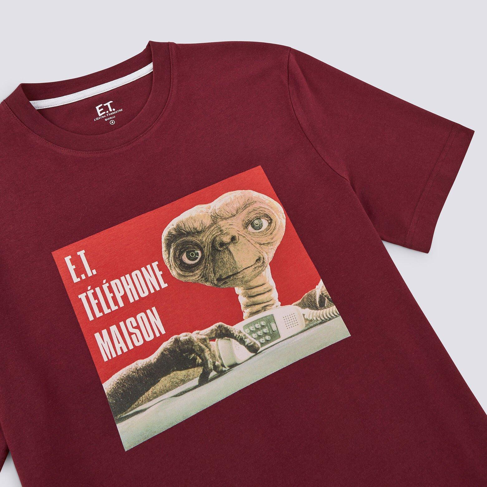 Pyjama col rond  imprimé E.T