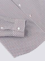 Chemise regular imprimé géométrique coton