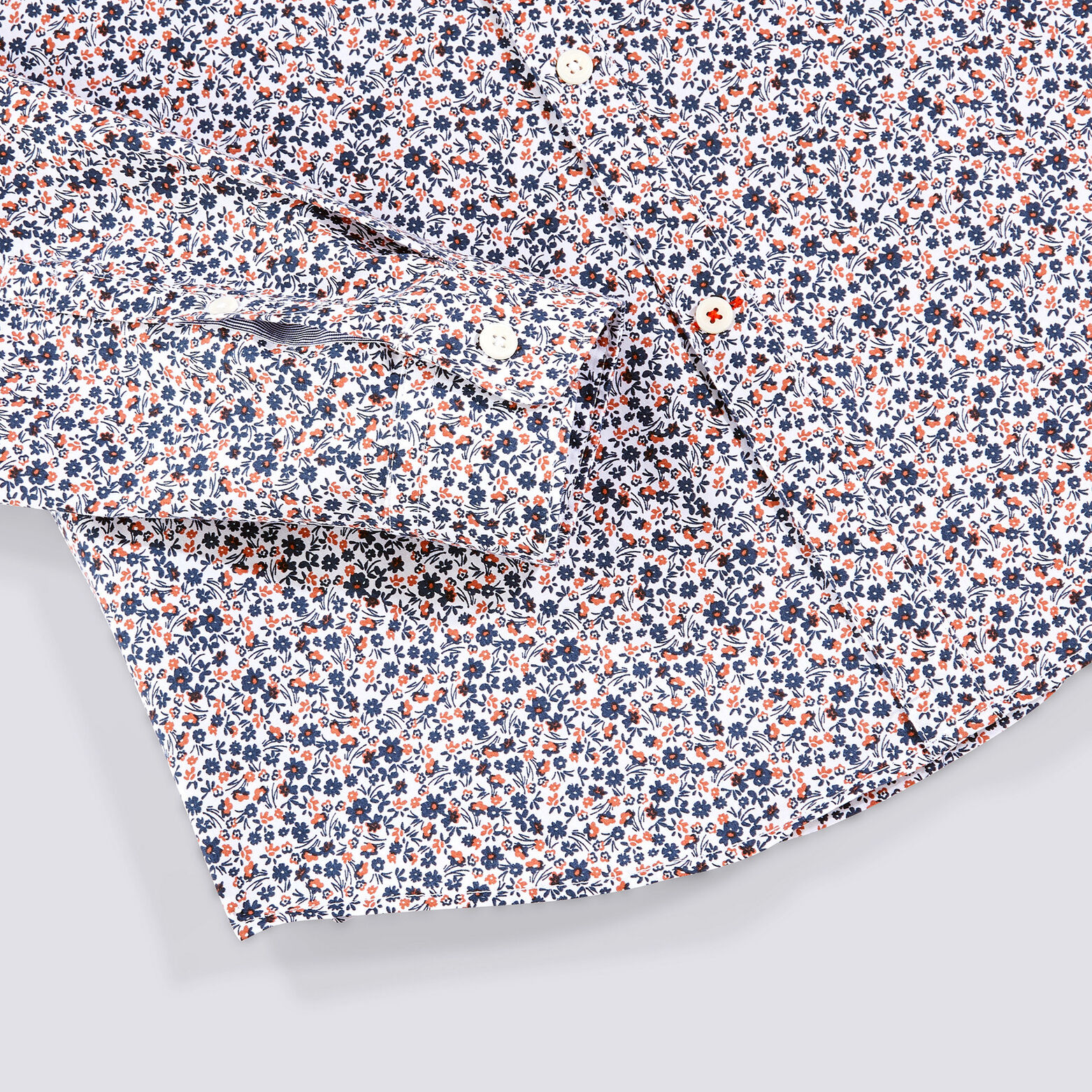 Chemise extra slim à fleurs coton