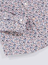 Chemise extra slim imprimé floral coton
